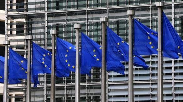 Berlaymont flags outside